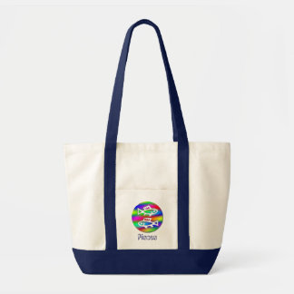 Pisces Zodiac Rainbow Fish Crafts and Shopping Impulse Tote Bag