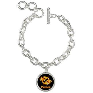 Pisces zodiac sign charm bracelets