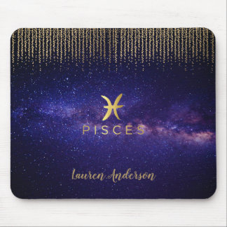 Pisces Zodiac Sign Computer Mousepad