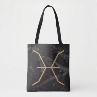 Pisces Zodiac Sign | Custom Background Tote Bag