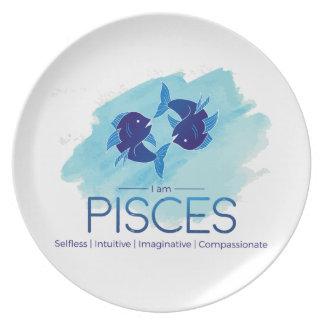 Pisces zodiac sign dinner plates