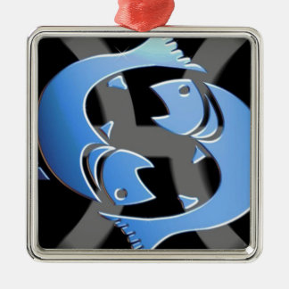 PISCES ZODIAC SIGN METAL ORNAMENT