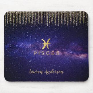 Pisces Zodiac Sign Name Computer Mousepad