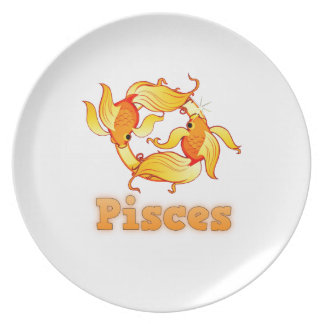 Pisces zodiac sign party plate