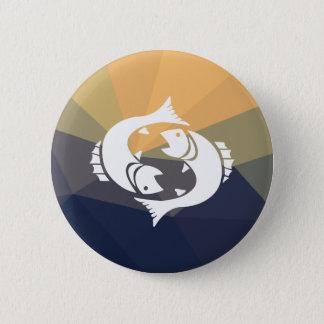 Pisces zodiac sign round pinback button