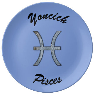 Pisces Zodiac Symbol Element by Kenneth Yoncich Plate