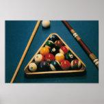 Piscine/Tableau de Biliiards, boules, ques -- Affi