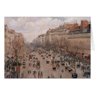 Pissarro Boulevard Montmartre Card