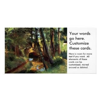 Pissarro landscapes bridge Pontoise France art Photo Card Template