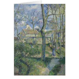 Pissarro: Path to Les Pouilleux (blank inside) Card