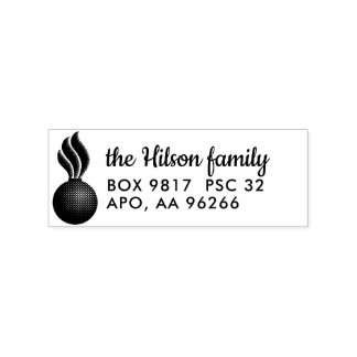 Pisspot Ammo Custom Return Address Wood Stamp