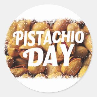 Pistachio Day - Appreciation Day Classic Round Sticker