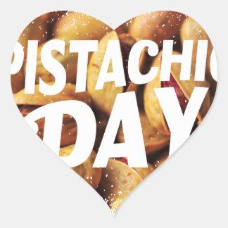 Pistachio Day - Appreciation Day Heart Sticker