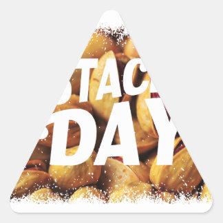 Pistachio Day - Appreciation Day Triangle Sticker