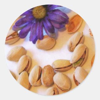 pistachio nuts classic round sticker