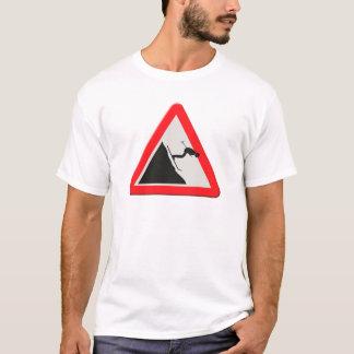 Piste BRITANNIQUE de /off de descendeur de panneau T-shirt