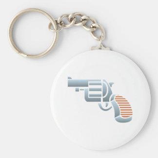 Pistol gun Colt pistol Basic Round Button Keychain