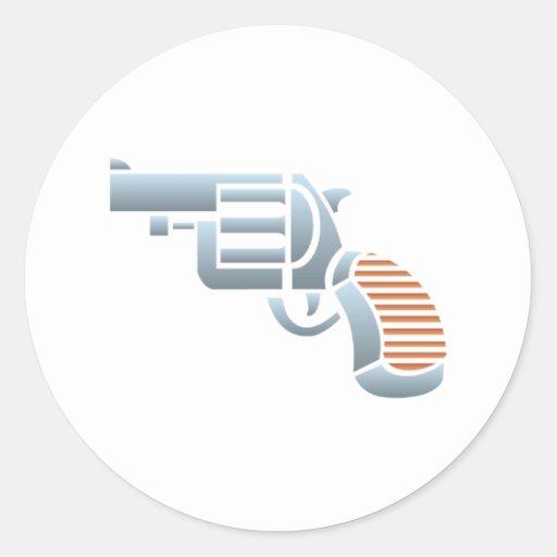 Pistol gun Colt pistol Round Stickers