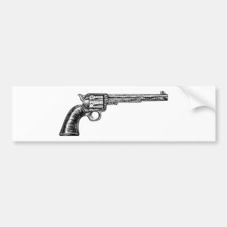 Pistol Gun Vintage Retro Woodcut Style Bumper Sticker