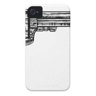 Pistol Gun Vintage Retro Woodcut Style Case-Mate iPhone 4 Cases