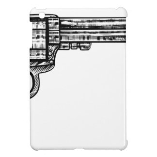 Pistol Gun Vintage Retro Woodcut Style iPad Mini Cases