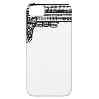 Pistol Gun Vintage Retro Woodcut Style iPhone 5 Case