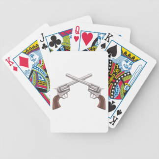 Pistol Handgun Drawing Isolated On White Backgroun Bicycle Playing Cards