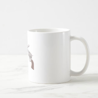 Pistol Handgun Drawing Isolated On White Backgroun Coffee Mug