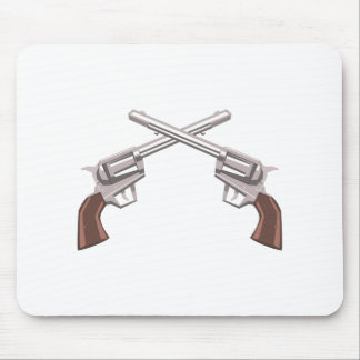 Pistol Handgun Drawing Isolated On White Backgroun Mouse Pad