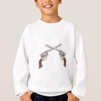 Pistol Handgun Drawing Isolated On White Backgroun Sweatshirt