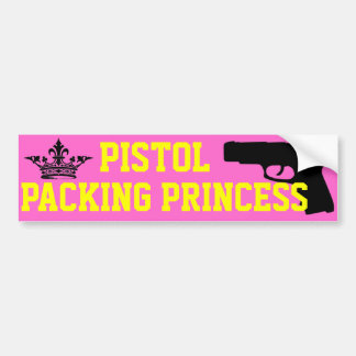 Pistol Packing Princess Bumper Sticker