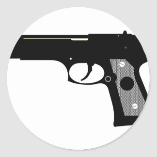 Pistol Round Sticker