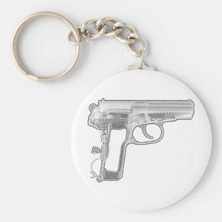 pistol x-ray keychains