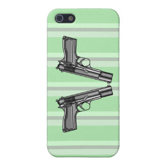 Pistols, Handgun Illustration iPhone 5/5S Cases
