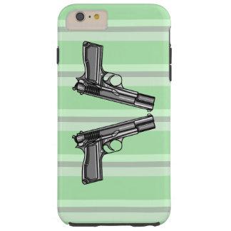 Pistols, Handgun Illustration Tough iPhone 6 Plus Case