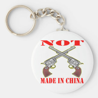 Pistols NOT Made In China Basic Round Button Keychain