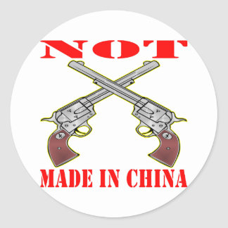 Pistols NOT Made In China Round Sticker