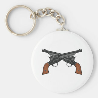 Pistols pistols colts basic round button keychain