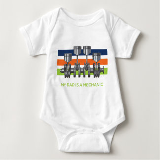 Piston Crankshaft Baby Bodysuit