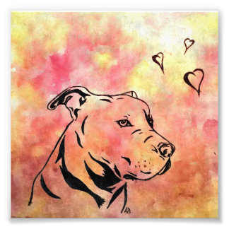 Pit bull abstract print