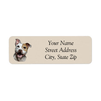 Pit Bull Address Label
