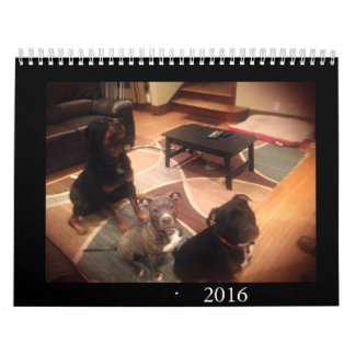 Pit Bull and Rottweiler Love Wall Calendars