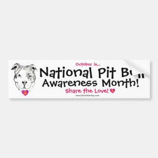 Pit Bull Awareness Month Bumper Sticker