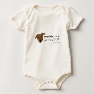 pit bull baby bodysuit