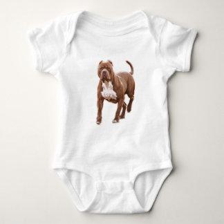 Pit bull brown baby bodysuit