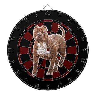 Pit bull brown dartboard