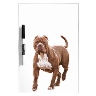 Pit bull brown dry erase board