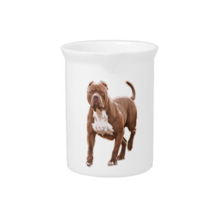 Pit bull brown pitcher