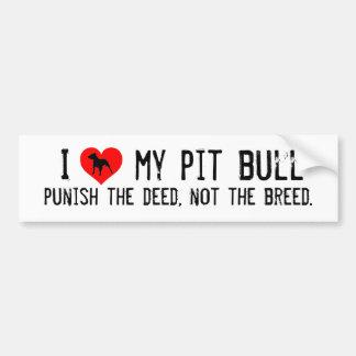 Pit Bull Bumper Sticker