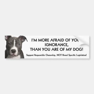 Pit Bull Bumper Sticker (white) Anti - BSL